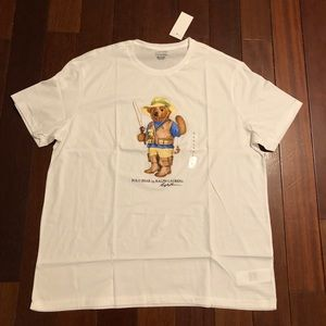 Men's polo Teddy Bear NEW fisherman tee